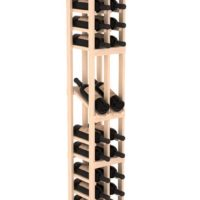 30-bottled standalone pine Display Wine Rack Kit in natural stain