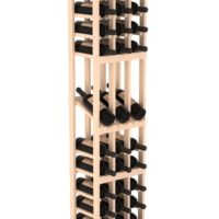 45-bottled standalone 3 Column 6 Ft Pine Display Wine Rack Kit in Natural Stain