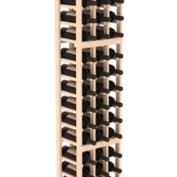 54-bottled standalone Pine 3 Column 6 Ft Wine Rack Kit in Natural Stain