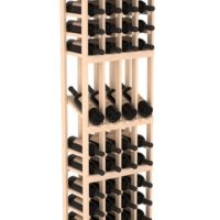 60-bottled standalone 4 Column 6 Ft Pine Display Wine Rack Kit in Natural Stain