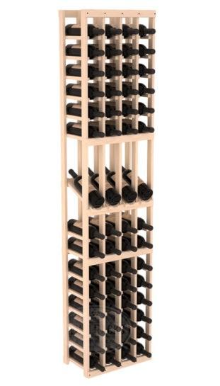 4 Column 6 Ft Pine Display Wine Rack Kit