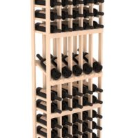 75-bottled standalone 5 Column 6 Ft Pine Display Wine Rack Kit in Natural Stain