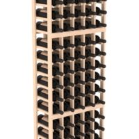 90-bottled standalone Pine 5 Column 6 Ft Wine Rack Kit in Natural Stain