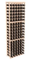 108-bottled standalone Pine 6 Column 6 Ft Wine Rack Kit in Natural Stain