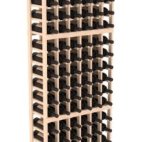 108-bottled standalone Pine 6 Column 6 Ft Wine Rack Kit in Natural Stain