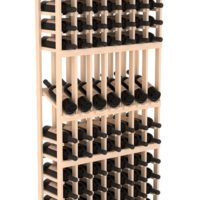 105-bottled standalone 7 Column 6 Ft Pine Display Wine Rack Kit in Natural Stain