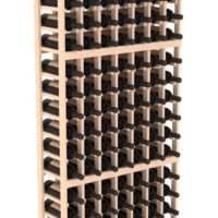 126-bottled standalone Pine 7 Column 6 Ft Wine Rack Kit in Natural Stain