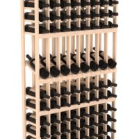 120-bottled standalone 8 Column 6 Ft Pine Display Wine Rack Kit in Natural Stain
