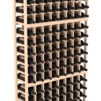144-bottled standalone Pine 8 Column 6 Ft Wine Rack Kit in Natural Stain