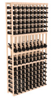135-bottled standalone 9 Column 6 Ft Pine Display Wine Rack Kit in Natural Stain
