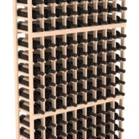 162-bottled standalone Pine 9 Column 6 Ft Wine Rack Kit in Natural Stain