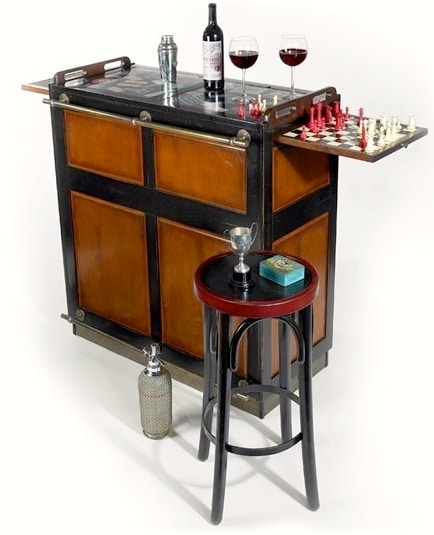 Le Cache Wine Furniture_Casablanca Bar Black Finish #15510