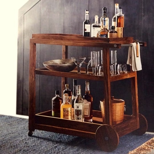 Le Cache Wine Furniture_Howell Bar Cart, #15526