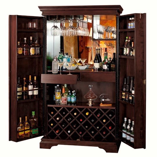 Le Cache Wine Furniture_St. Helena Hide-A-Bar Chocolate Cherry, #2325