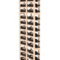 36-bottled standalone 1 Column 6.5 Ft Pine Double Deep Wine Rack Kit in Natural Stain