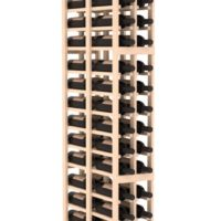 72-bottled standalone 2 Column 6.5 Ft Pine Double Deep Wine Rack Kit in Natural Stain