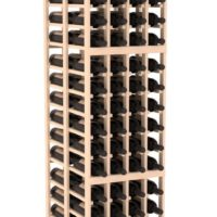 144-bottled standalone 4 Column 6.5 Ft Pine Double Deep Wine Rack Kit in Natural Stain