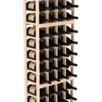 60-bottled standalone Pine 4 Column 6.5 Ft Magnum and Champagne Wine Rack Kit in Natural Stain