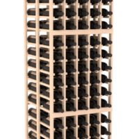180-bottled standalone 5 Column 6.5 Ft Pine Double Deep Wine Rack Kit in Natural Stain