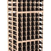 216-bottled standalone 6 Column 6.5 Ft Pine Double Deep Wine Rack Kit in Natural Stain