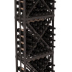 6.5 Ft Black Pine Lacquer Diamond Bin Wine Rack Kit