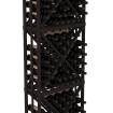 6.5 Ft Black Redwood Diamond Bin Wine Rack Kit
