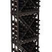 6.5 Ft Black Redwood Lacquer Diamond Bin Wine Rack Kit