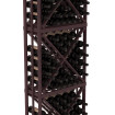 6.5 Ft Burgundy Redwood Lacquer Diamond Bin Wine Rack Kit