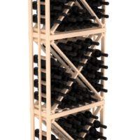 120-bottled standalone 6.5 Ft Pine Diamond Bin Wine Rack Kit in Natural Stain