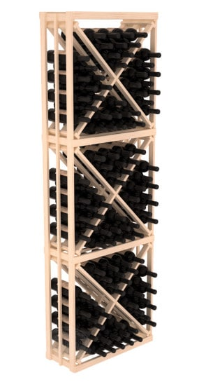 6.5 Ft Pine Diamond Bin Wine Rack Kit