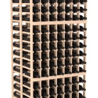 252-bottled standalone 7 Column 6.5 Ft Pine Double Deep Wine Rack Kit in Natural Stain