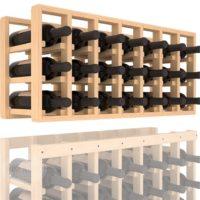 21-bottled 7 Column Pine Wine Rack Cellar Extender in Natural Stain