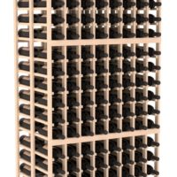 288-bottled standalone 8 Column 6.5 Ft Pine Double Deep Wine Rack Kit in Natural Stain