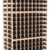 324-bottled standalone 9 Column 6.5 Ft Pine Double Deep Wine Rack Kit in Natural Stain