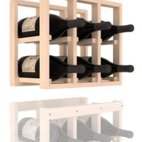 6-bottled Additional 3 Column Pine Magnum Wine Rack Extender in Natural Stain