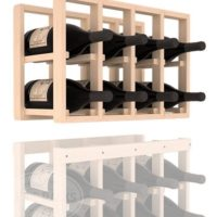 8-bottled Additional 4 Column Pine Magnum Wine Rack Extender in Natural Stain