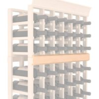 Additional 60 Inch Pine Wine Rack Single Trim Molding Natural Stain