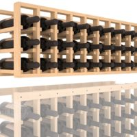 27-bottled 9 Column Pine Wine Rack Cellar Extender in Natural Stain