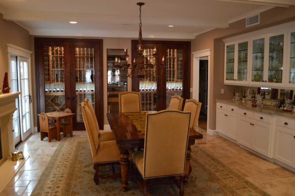 Custom Wine Cabinet Cellar Manhattan Beach Los Angeles Project
