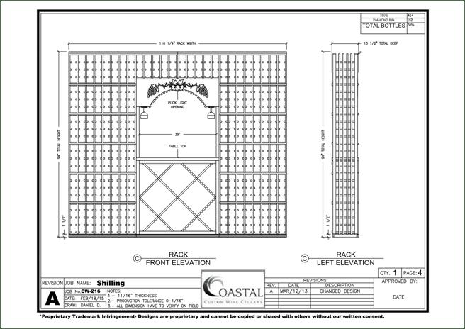 San Clemente Home Wine Cellar Project Blueprint