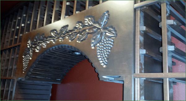 San Clemente home wine cellar engraving
