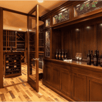Boston Custom Wine Cellar Tasting Room