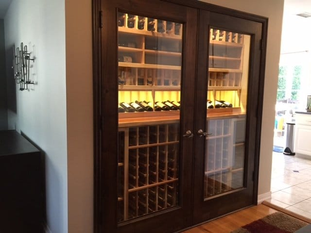Los Angeles Residential Custom Wine Cellars – Niche Transformation Design Complete After Installation
