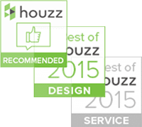 "The ""Recommended"" badge goes only to top-rated professionals on Houzz, click here to learn more about our best-of-houzz-2015-customer-service-design."