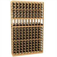 10-column display wood wine rack in Inch Pine Wine Rack in Natural Stain