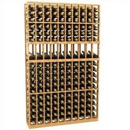 10 column display wood wine rack