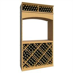 7 ft wine archway with diamond bins and tabletop