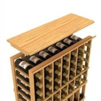 Curved Corner Wine Top Shelf in Natural Stain