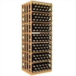 Double Deep Rectangular Wine Rack Bin and Case