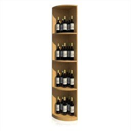 Solid Quarter Round Display Wine Rack